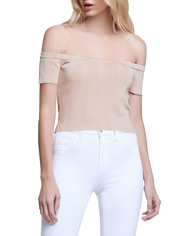 Yuki Off-Shoulder Knit Top