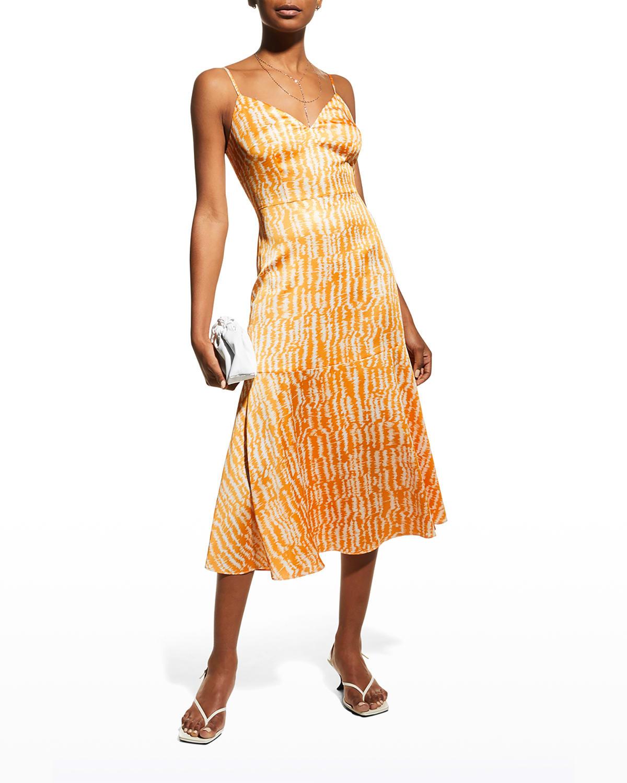 Stripe Satin Slip Dress