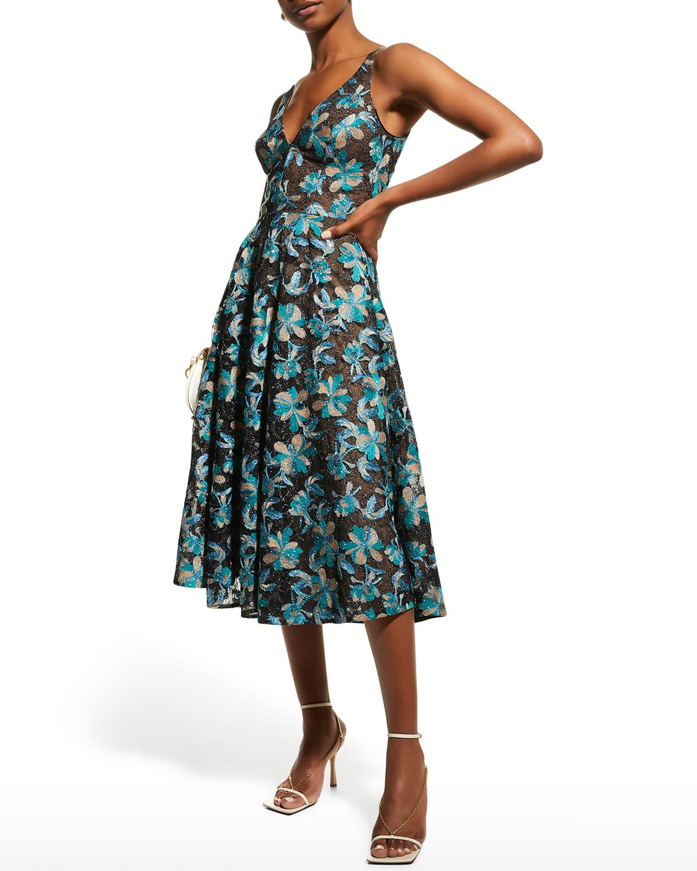 Elisa V-Neck Swing Dress
