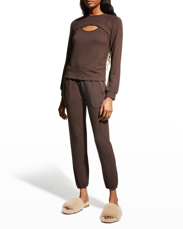 Peekaboo Raglan-Sleeve Sweatshirt