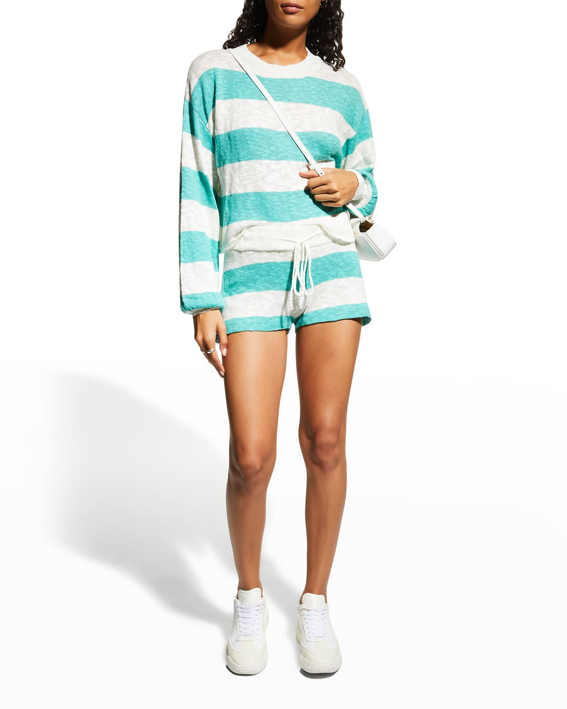 Sandy Waterfall Stripe Shorts