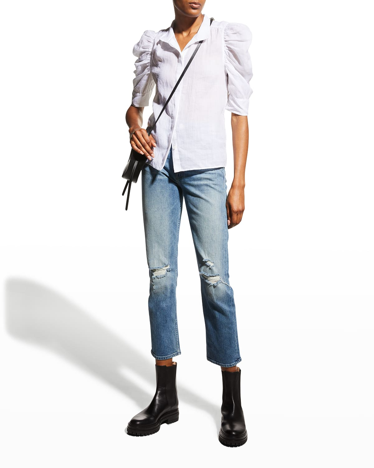 The High-Waisted Rider Ankle Jeans