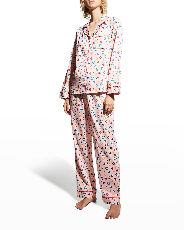 Printed Cotton Long-Sleeve Pajama Set