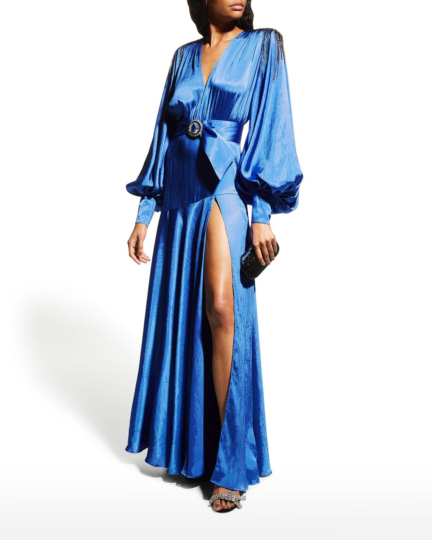 Carmen Bishop-Sleeve Gown