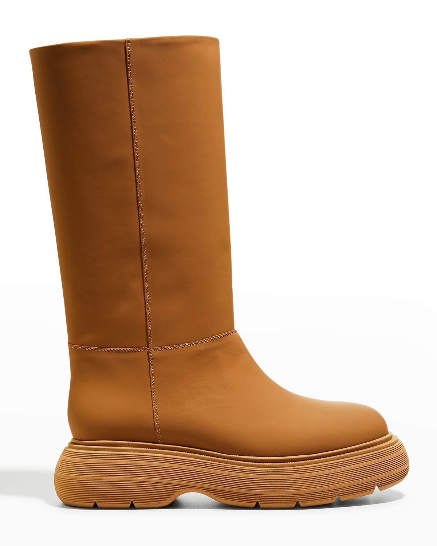 Calfskin Tall Rain Boots