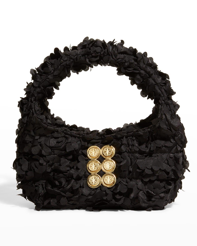 Bloom Mini 3-D Flower Hobo Top-Handle Bag