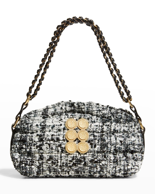 Mini Tweed Pouch Shoulder Bag