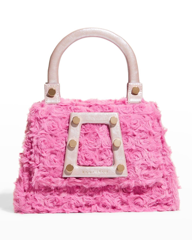 Ersilia Petite Studded Faux-Fur Top-Handle Bag