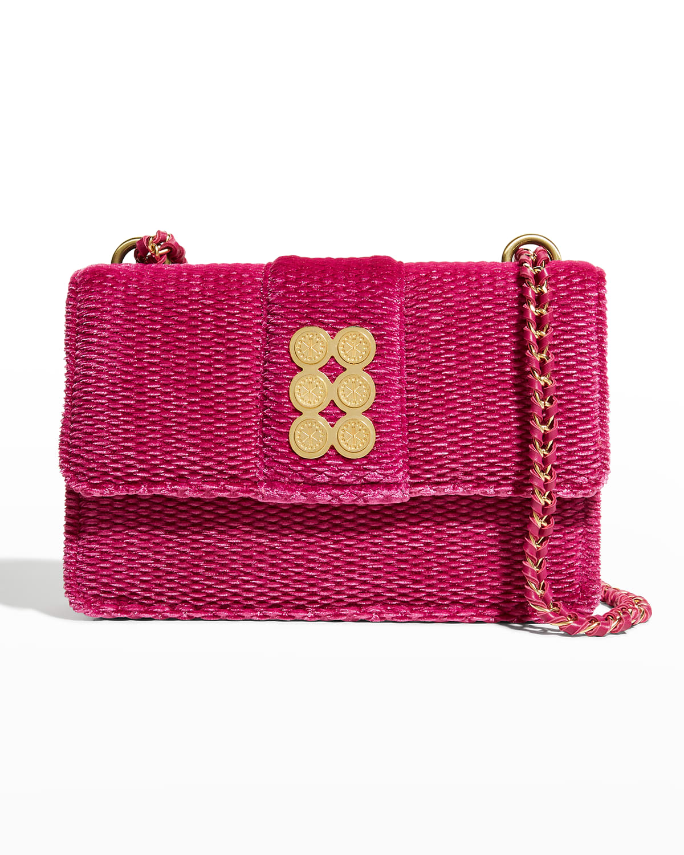 Honeycomb Woven Chain Shoulder Bag