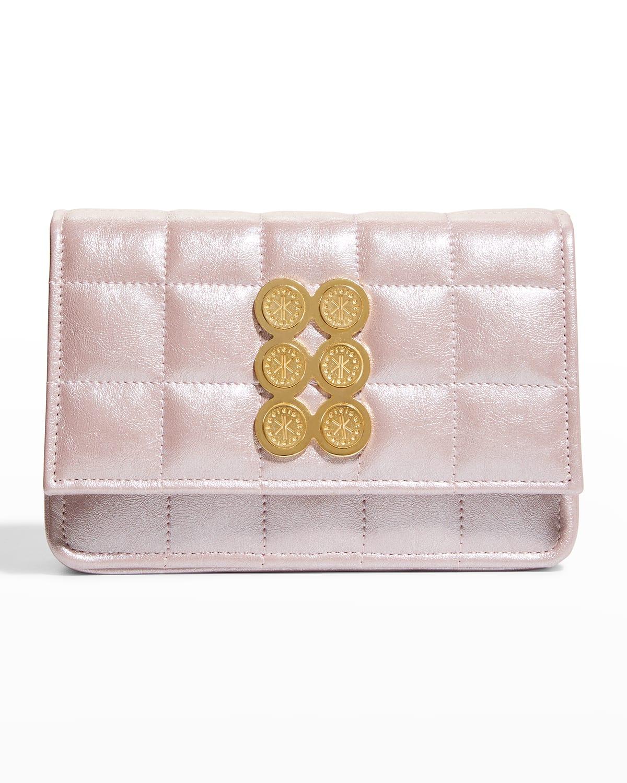 Metallic Quilt Mini Shoulder Bag