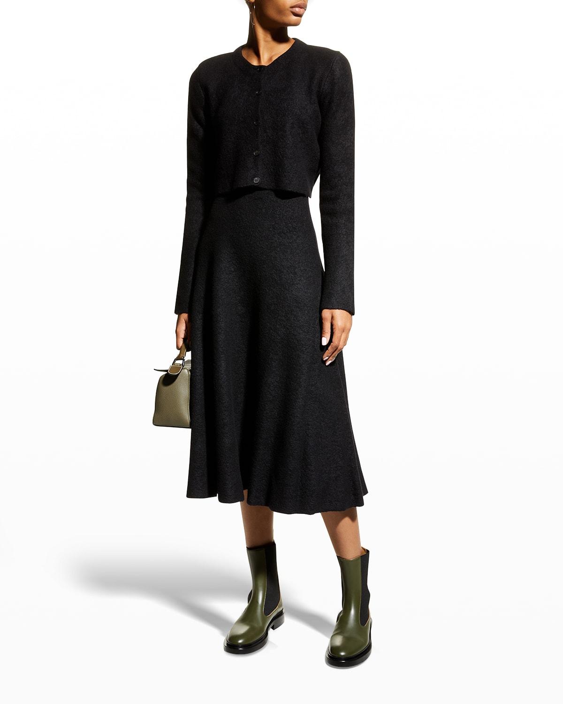 Tillie Wool-Cashmere Midi Skirt