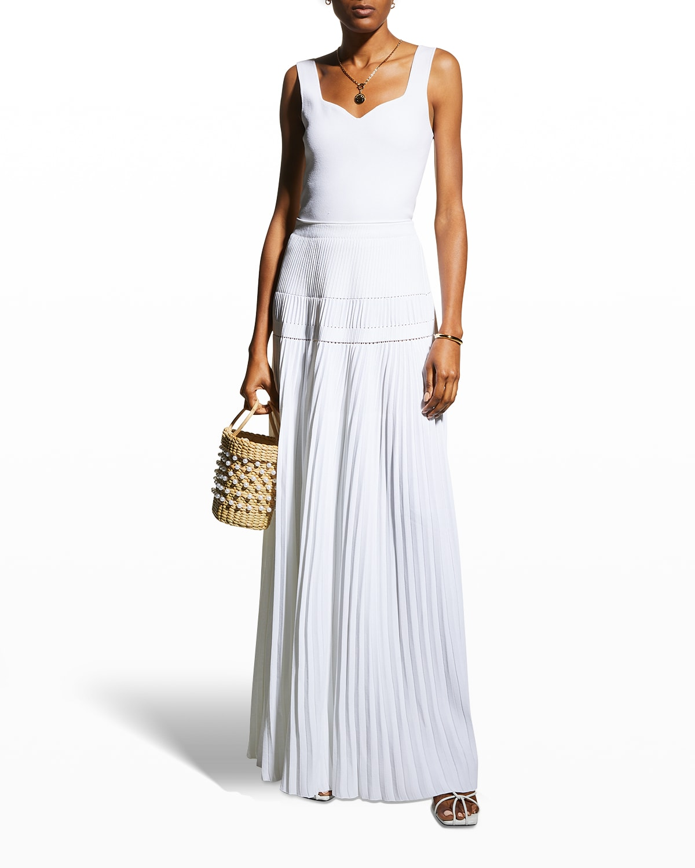 Tosca Plisse Maxi Skirt