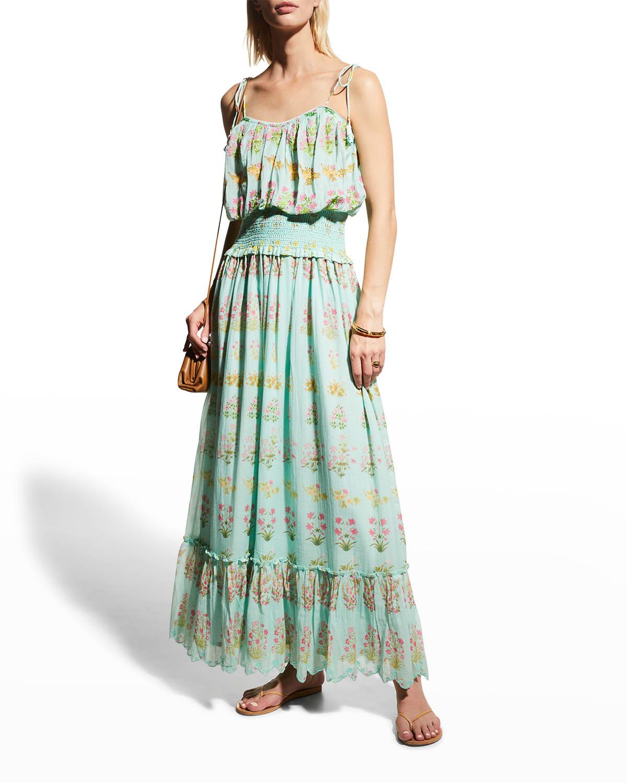 Cotton Gauze Floral Maxi Dress