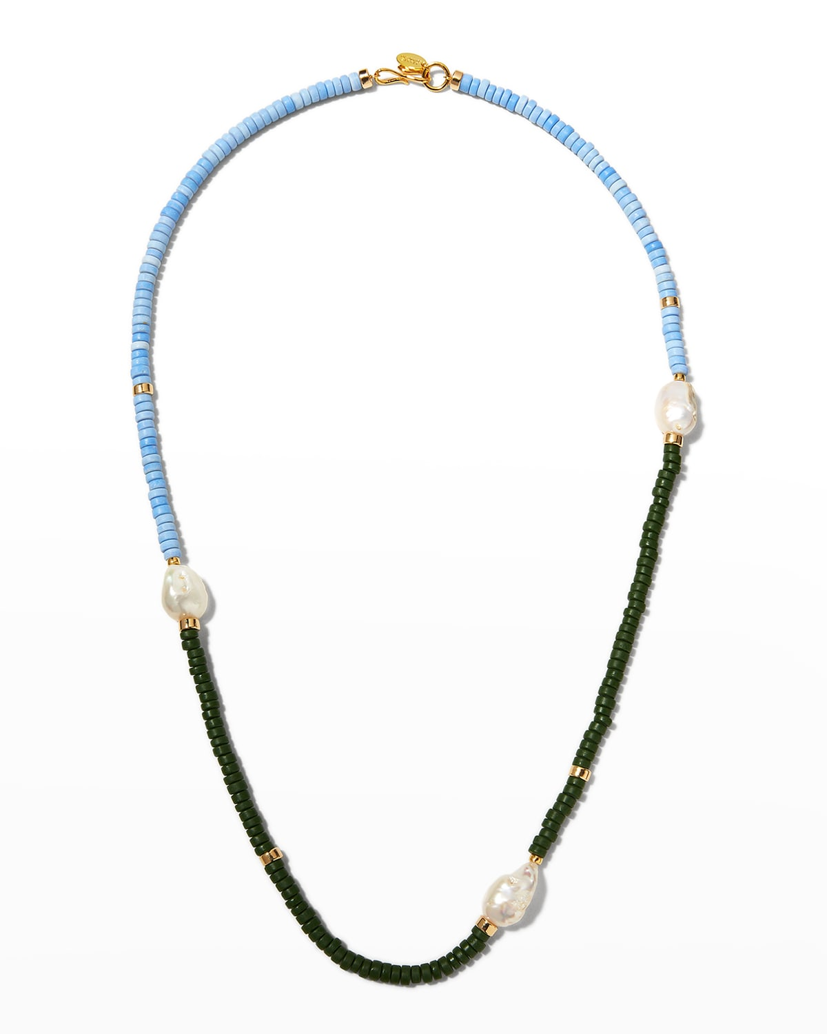 Color Field Necklace in Forest