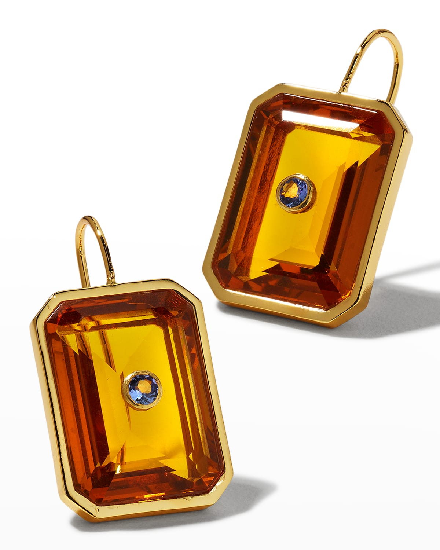 Tile Earrings in Amber