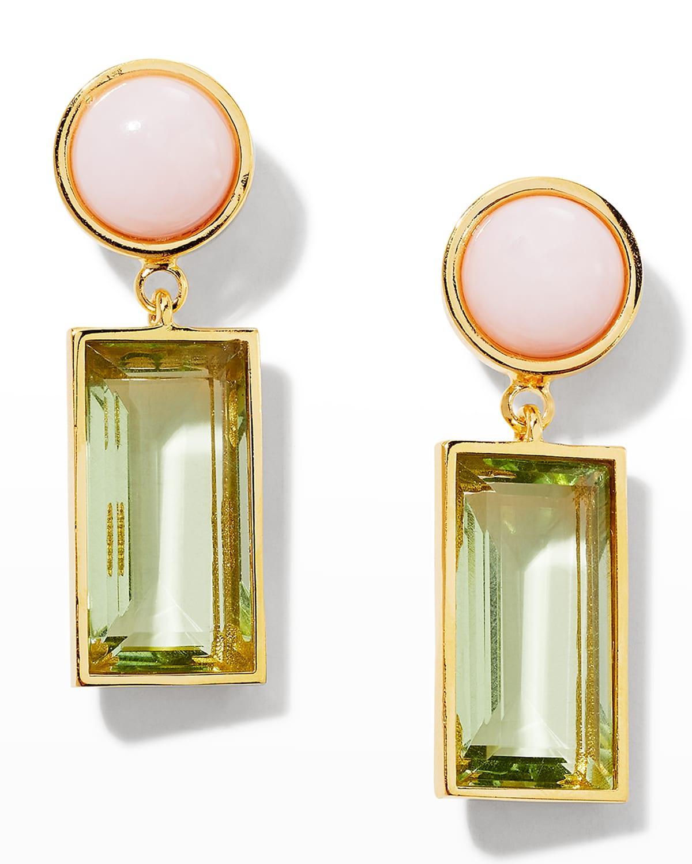 Crystal Column Earrings in Meadow