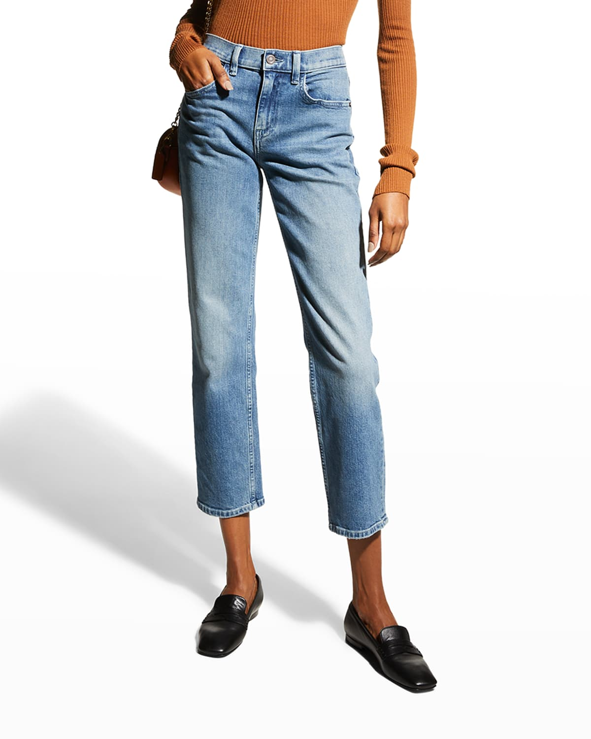 Watts Mid-Rise Straight Jeans