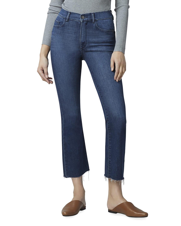 Bridget Boot-Cut High-Rise Crop Jeans