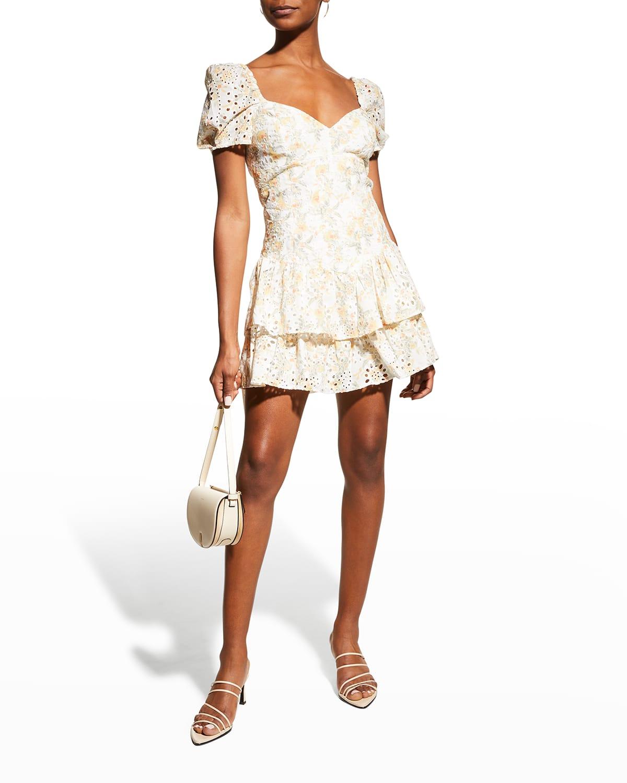 Broderie Mini Corset Dress