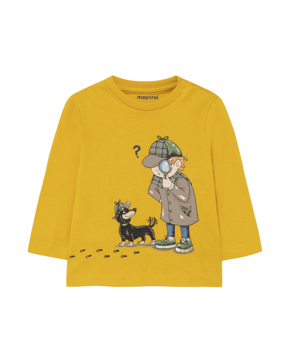 Boy's Dog and Detective Cotton T-Shirt