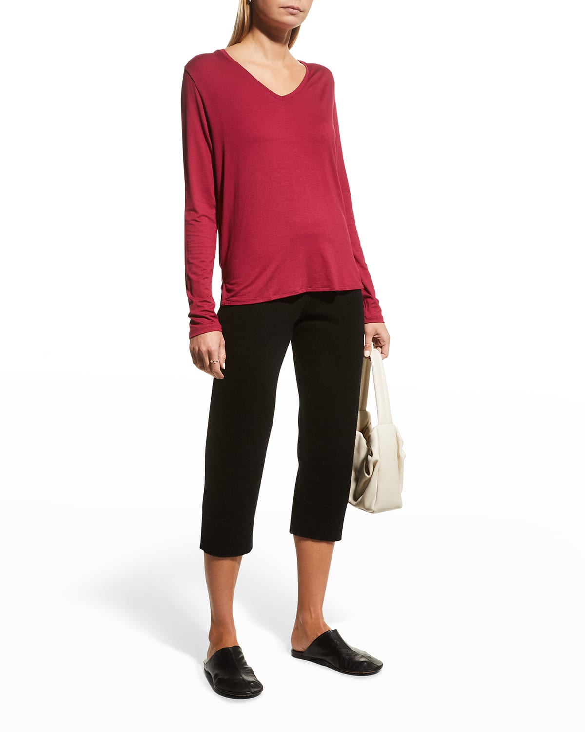 Soft Touch V-Neck Semi-Relaxed Tee