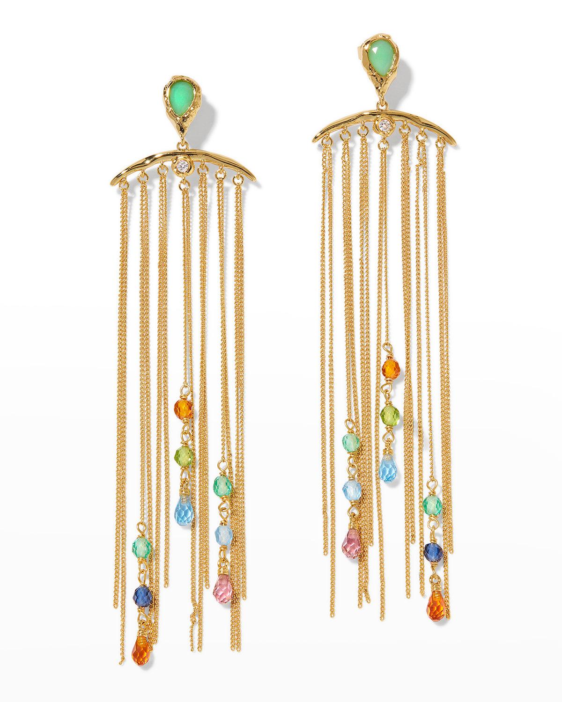 Asterales Cascade Fringe Post Earrings