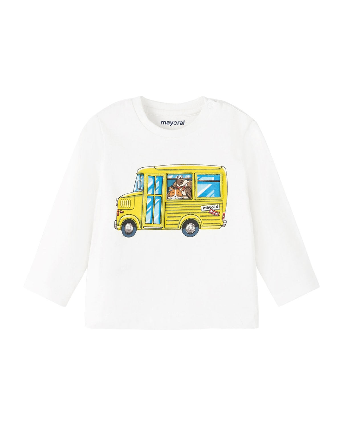 Boy's Dogs On A Bus Graphic T-Shirt