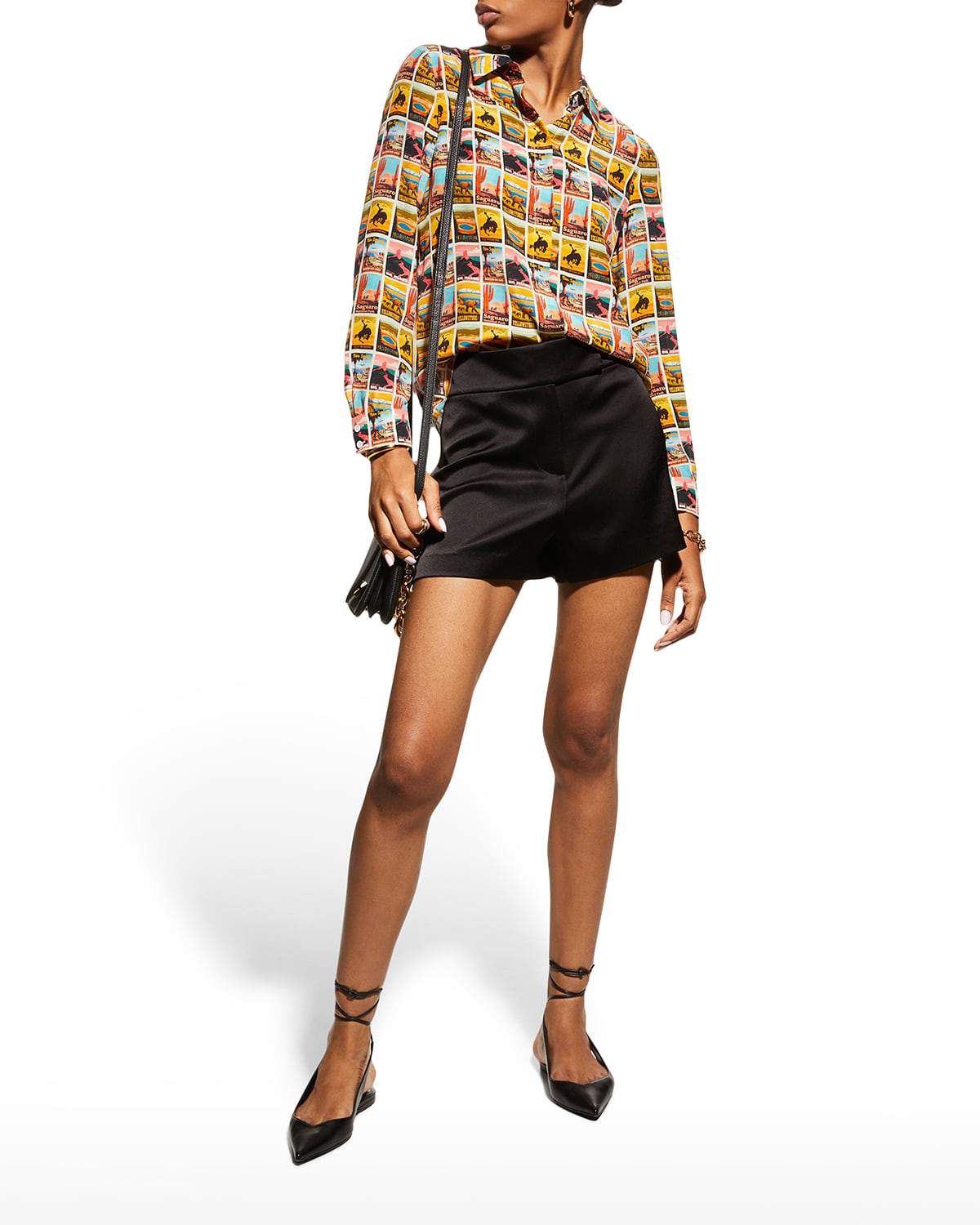 Willa Western Printed Button-Front Shirt