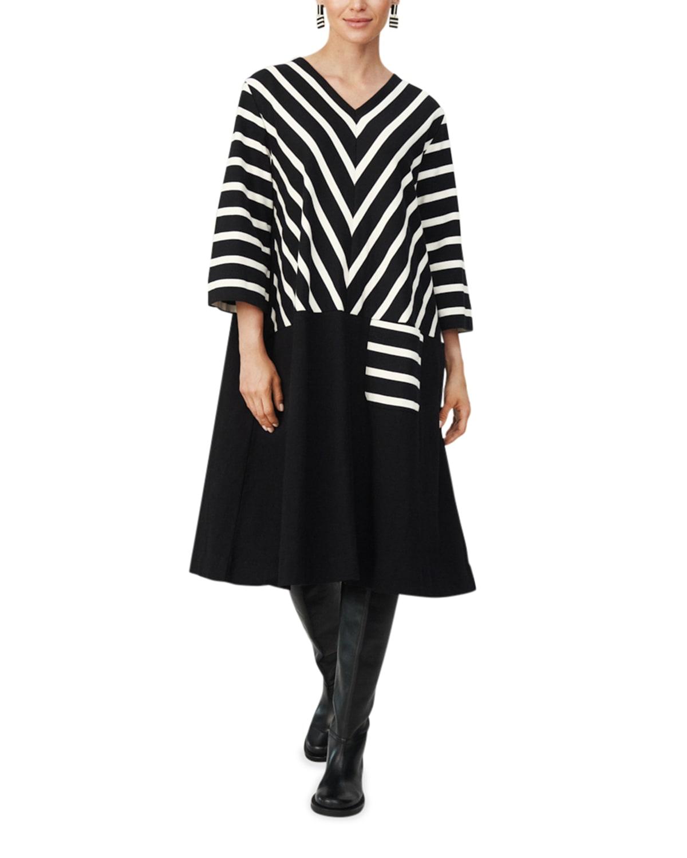 Nelena Long-Sleeve Midi Dress