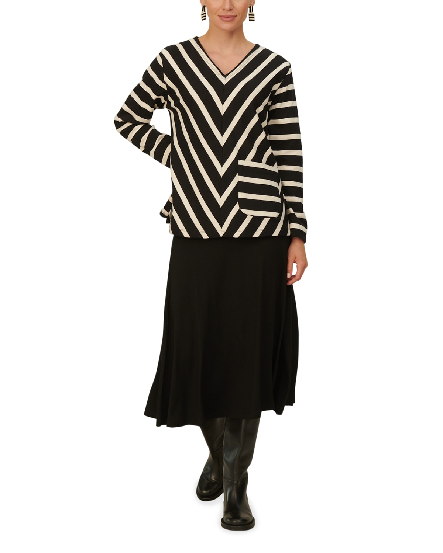 Belina Striped Long-Sleeve Top