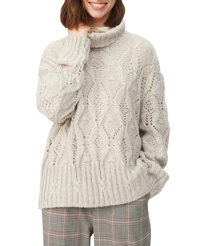 Felisa Pointelle Turtleneck Sweater