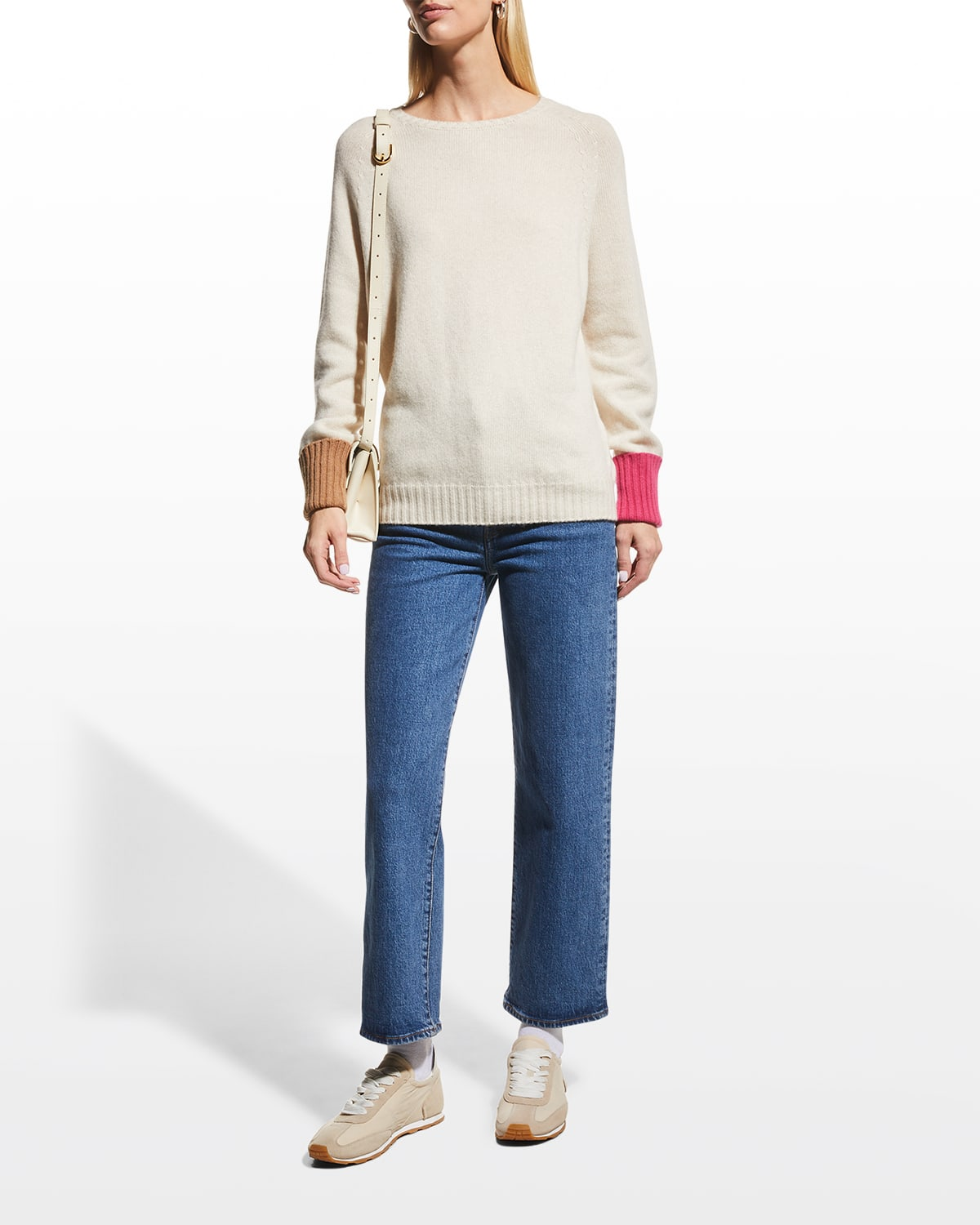 Wool-Cashmere Colorblock Sweater