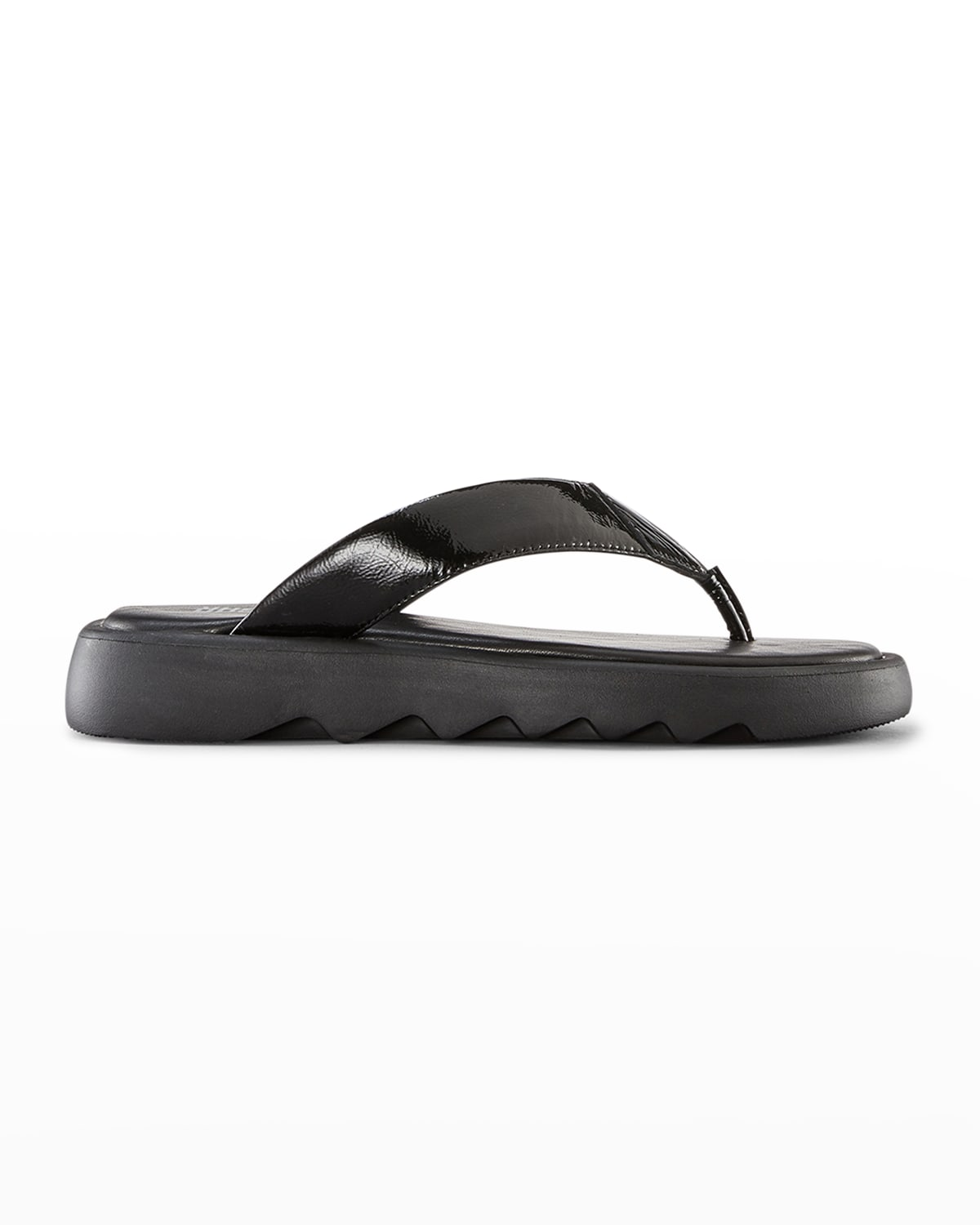 Jacy Patent Leather Thong Sandals
