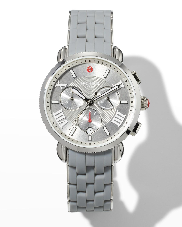 Sporty Sport Sail Watch with Silicone Bracelet
