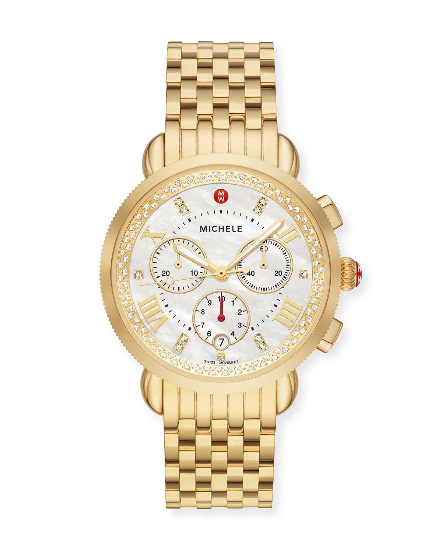 Sport Sail Gold Diamond Reflector Watch