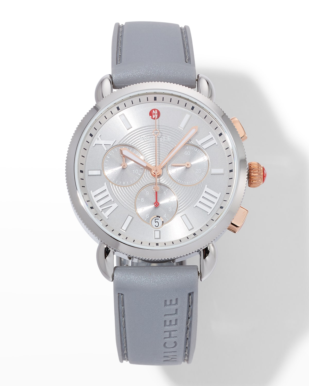 Sporty Sport Sail Two-Tone Watch with Silicone Strap