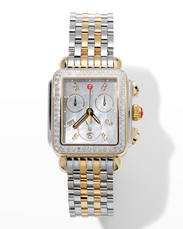 Deco Two-Tone Diamond Watch