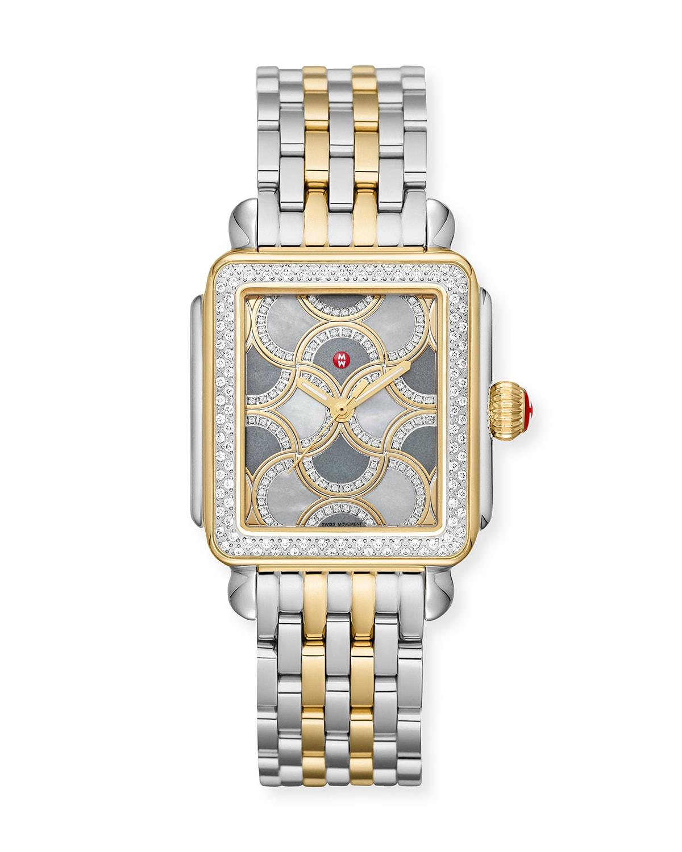 Deco Bella Two-Tone Diamond Mosaic Watch