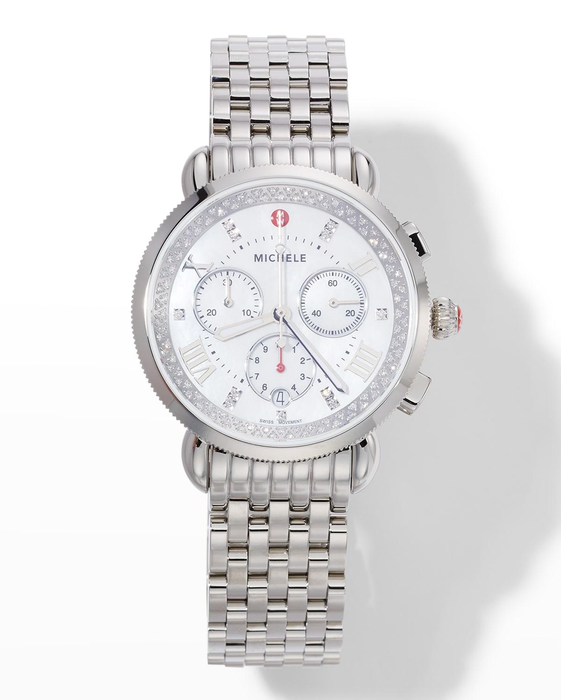 Sport Sail Stainless Steel Diamond Reflector Watch