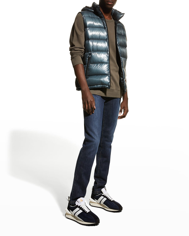 Men's Packable Down Vest w/ Removable Hood
