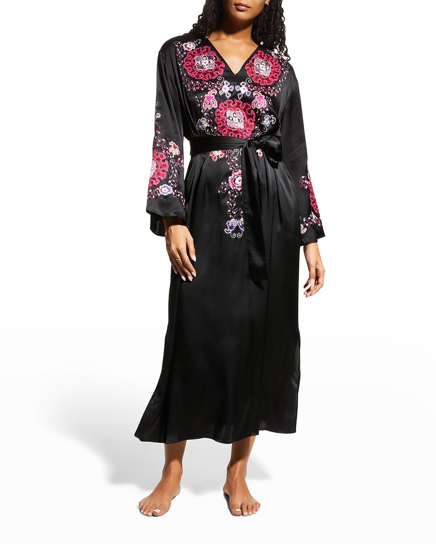 Kashmir Silk Embroidery Caftan