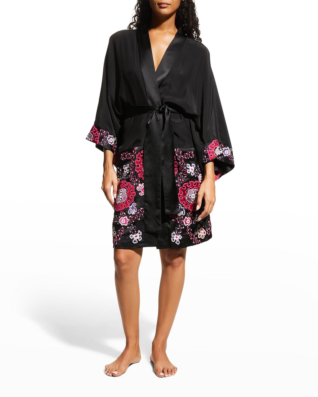Kashmir Silk Embroidery Robe