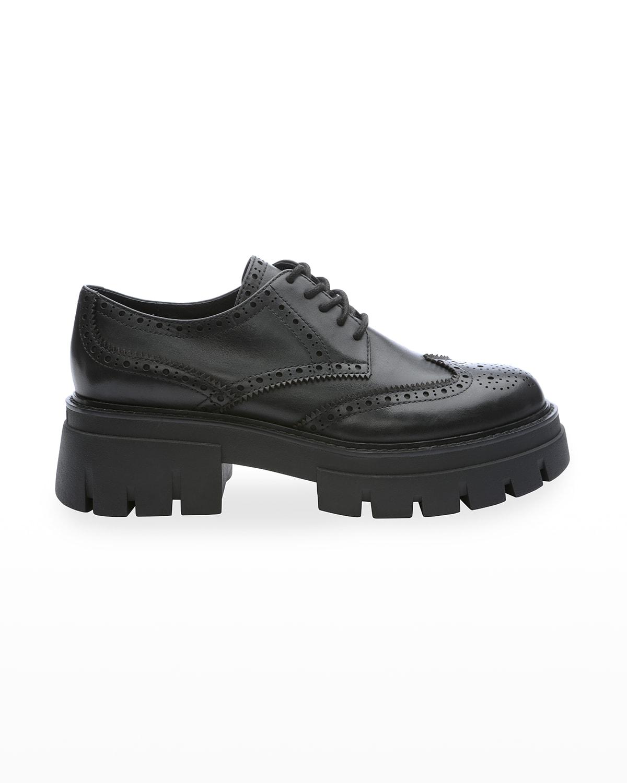 London Wing-Tip Platform Loafers
