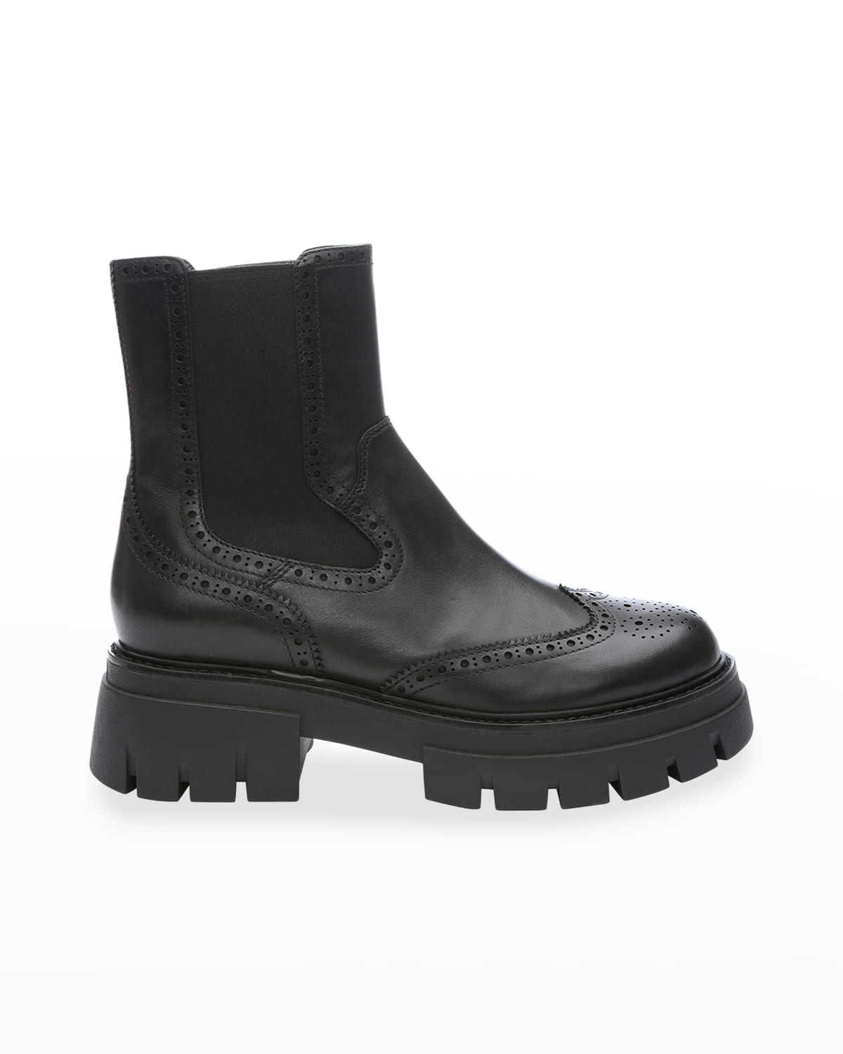 Lover Leather Wing-Tip Chelsea Boots