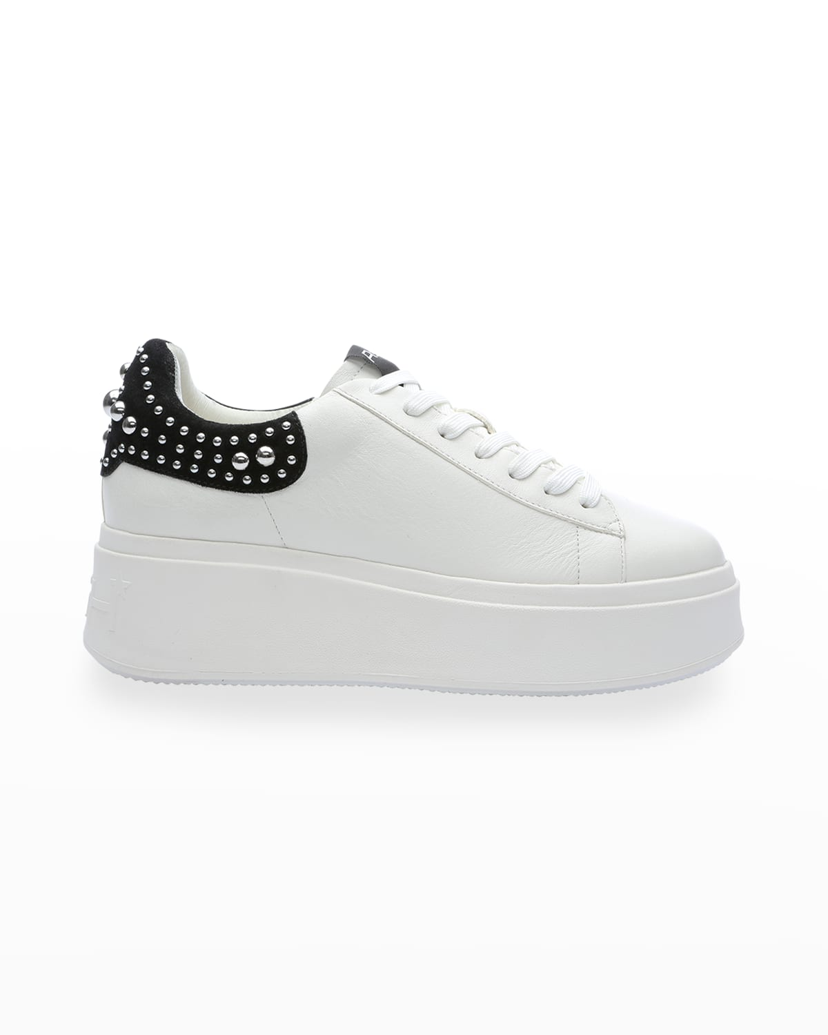 Moby Stud Bicolor Leather Platform Sneakers