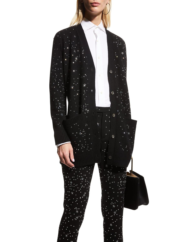 Longfellow's Light of Stars Embellished Cashmere Cardigan