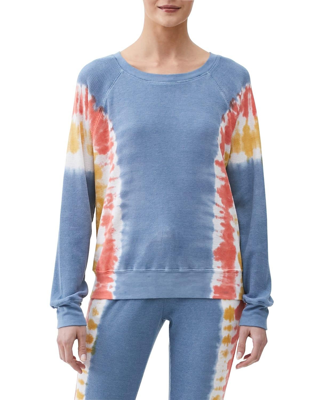Mira Thermal Tie-Dye Pullover Top