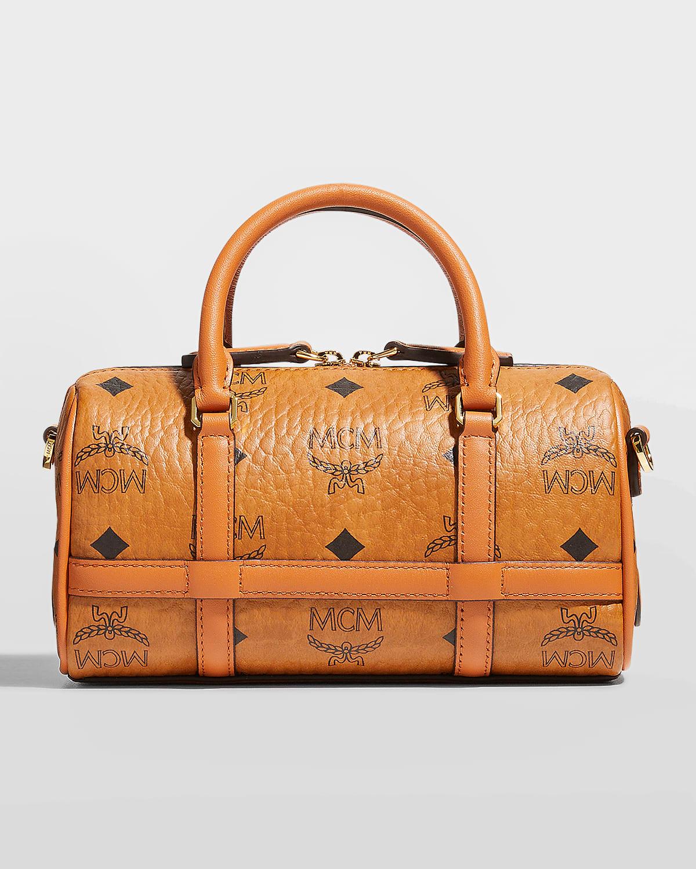 Delmy Boston Mini Visetos Logo Top-Handle Bag