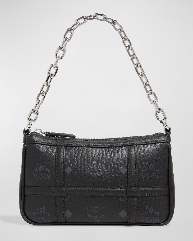 Delmy Visetos Mini Logo Chain Shoulder Bag