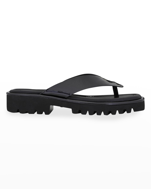 Bloom Embossed Thong Comfort Sandals